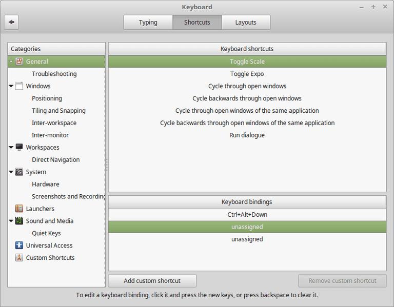 Add Direct Keyboard Shortcut