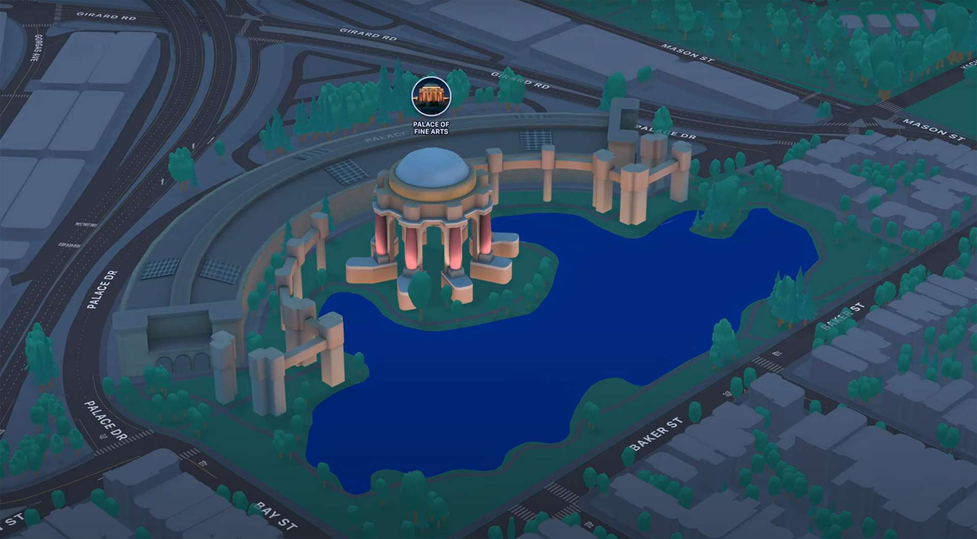 Apple Maps iOS 15 Night Time Mode