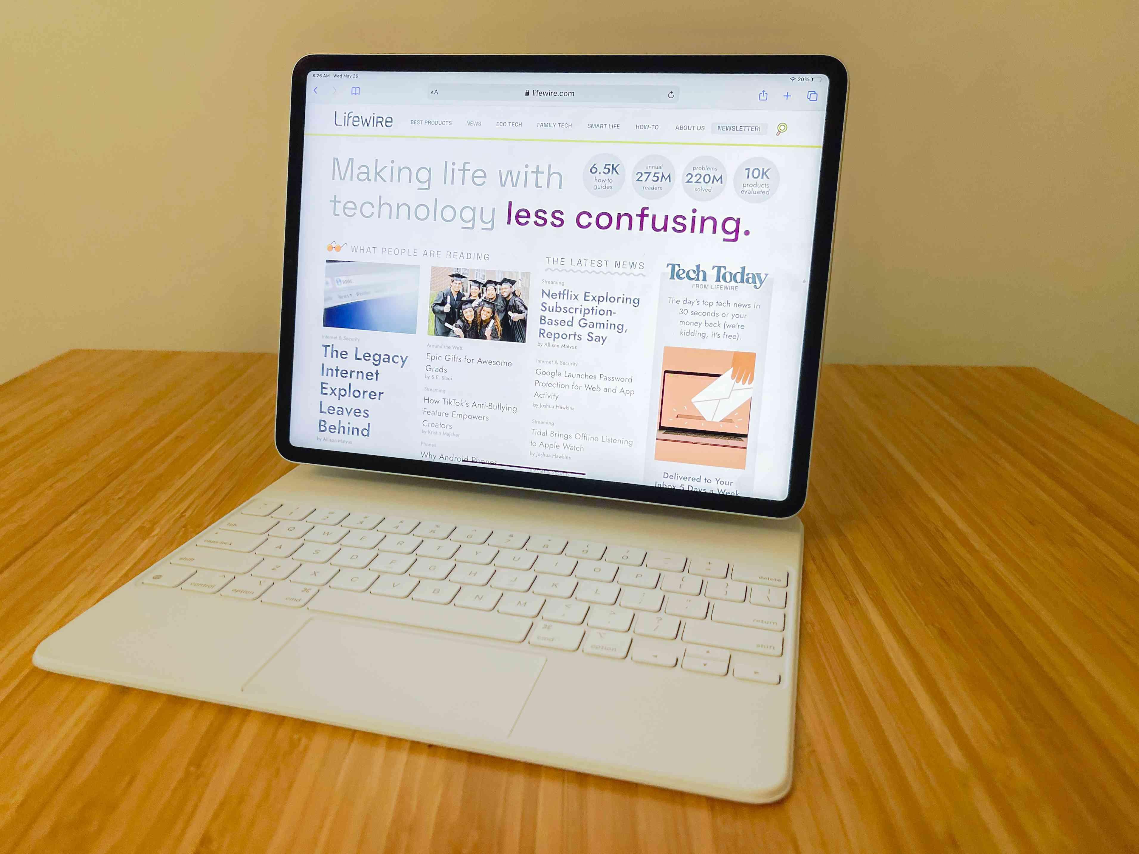The M1 iPad Pro (12.9-Inch) on a Magic Keyboard