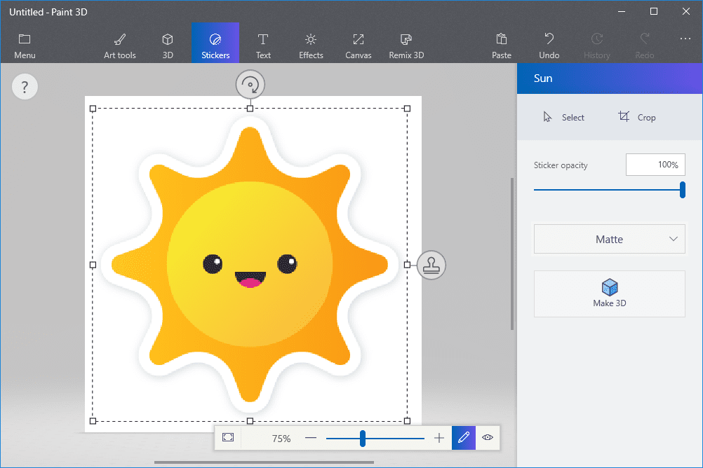 How To Use Stickers And Text In Paint 3d
