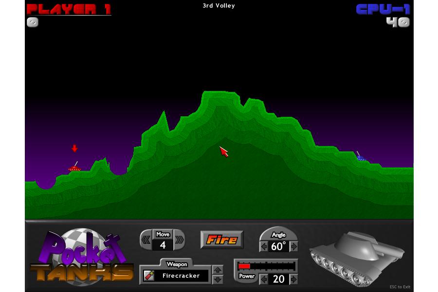 Pocket Tanks game in Windows 8