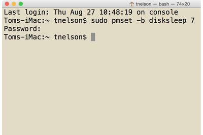 Use Terminal to Spin Down Your Mac's Hard Drives