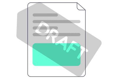 Illustration of a watermark image on a document