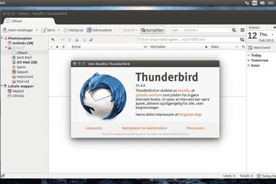Mozilla Thunderbird mail application