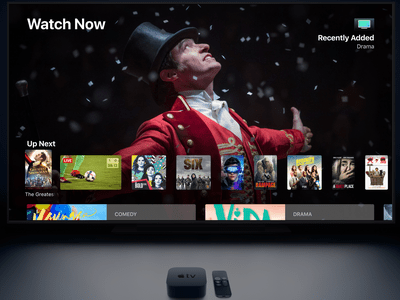Apple TV 4K on Television Screen