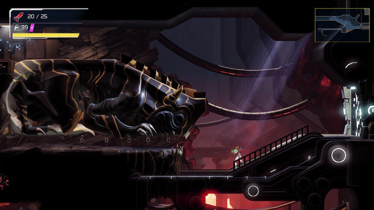 A screenshot from 'Metroid Dread.'