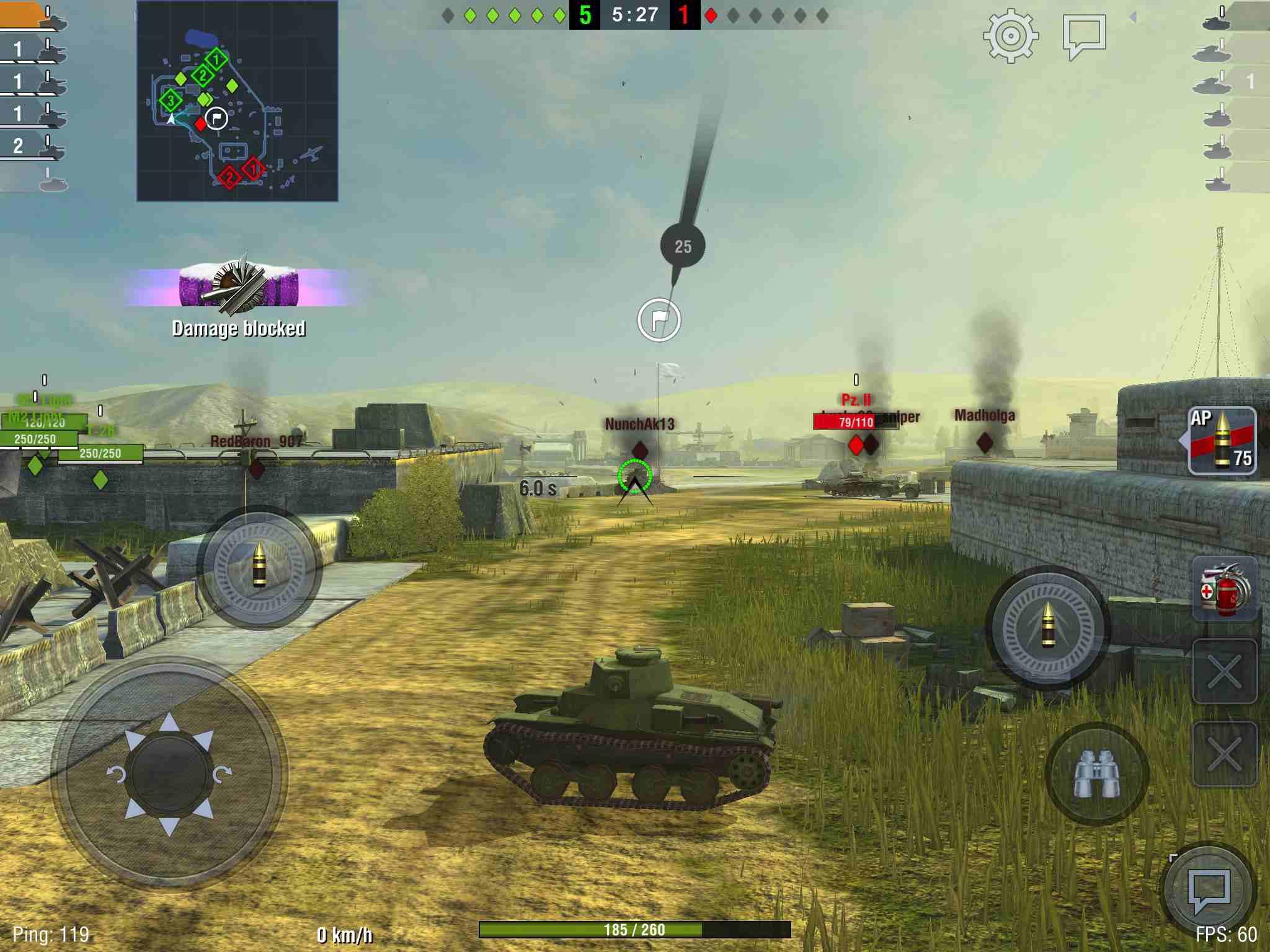 World of Tanks on iPad
