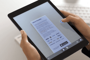 Scanner Pro application in use on an iPad