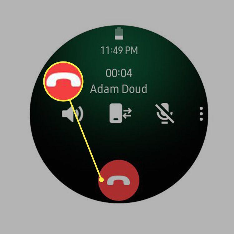 End call icon on Samsung Galaxy Watch
