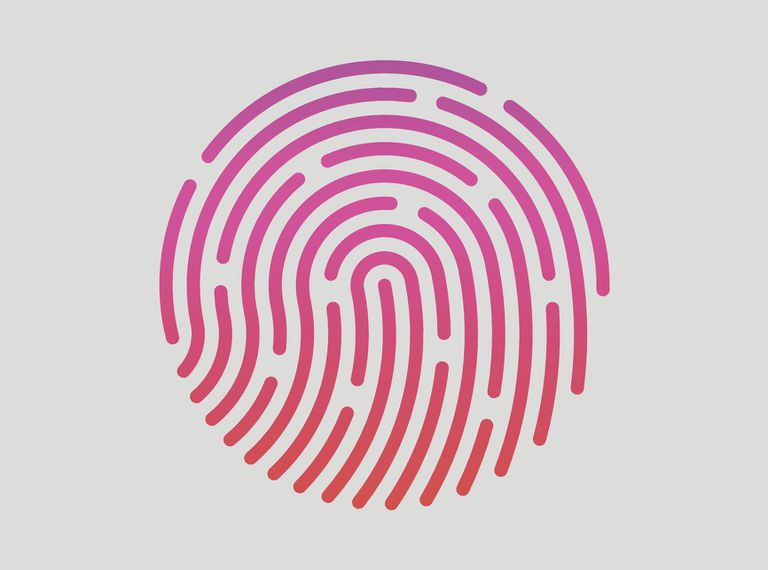 Illustration of a fingerprint in a circle representing Touch ID icon
