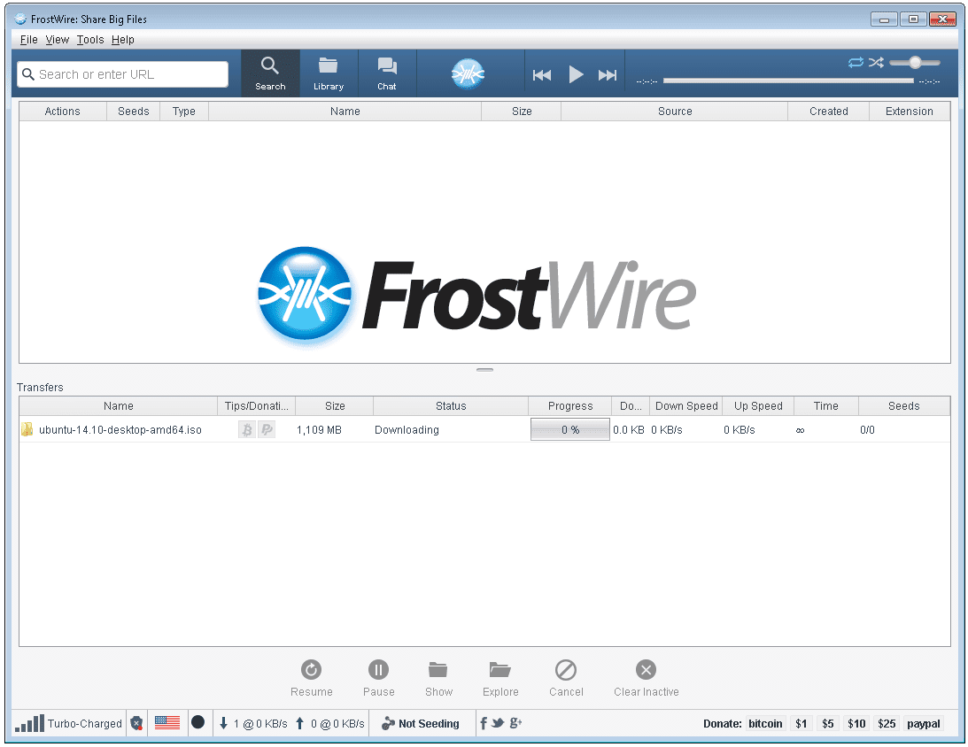 FrostWire Review (A Free Torrent Client)