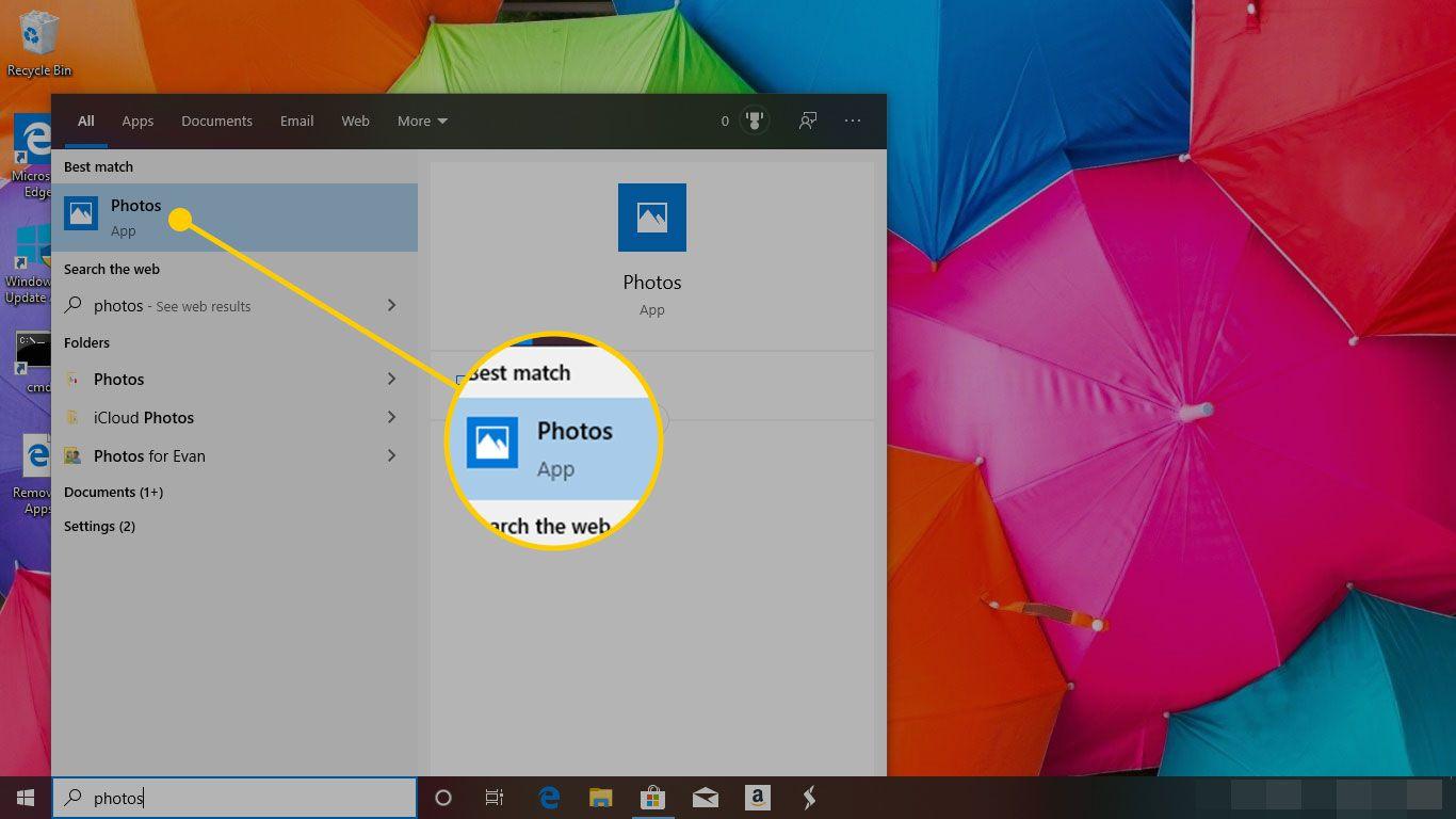 Photos app in Windows 10