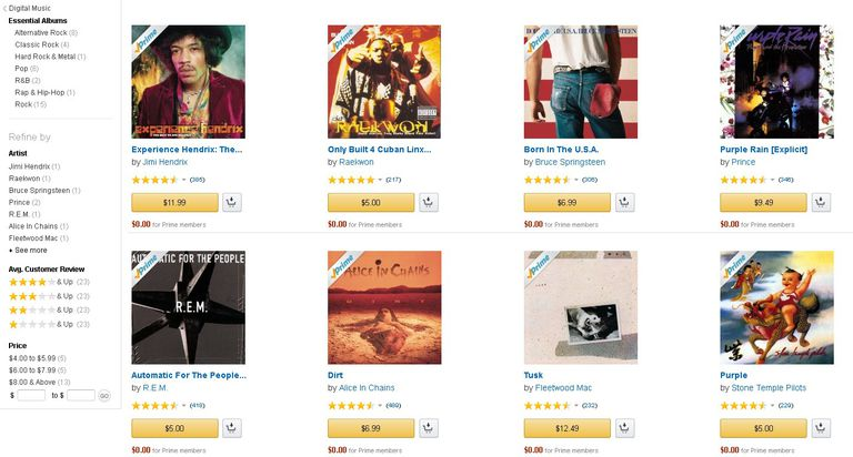 Amazon MP3 Screenshot