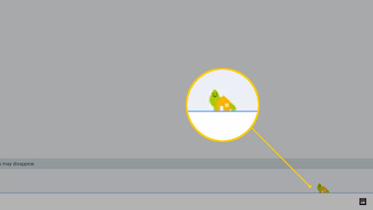 Shy dinosaur in Google Hangouts