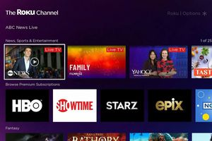 The Roku Channel screen with multiple channels