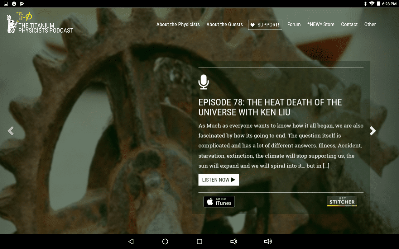 Titanium Physicists podcast home page