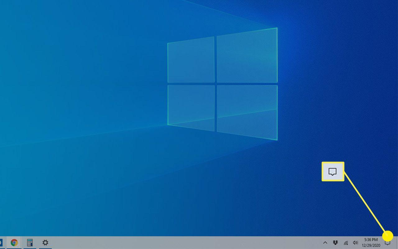 The Windows Action Center icon.
