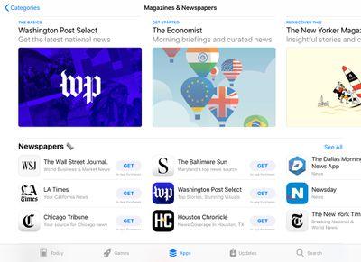 Magazine subscriptions on iPad
