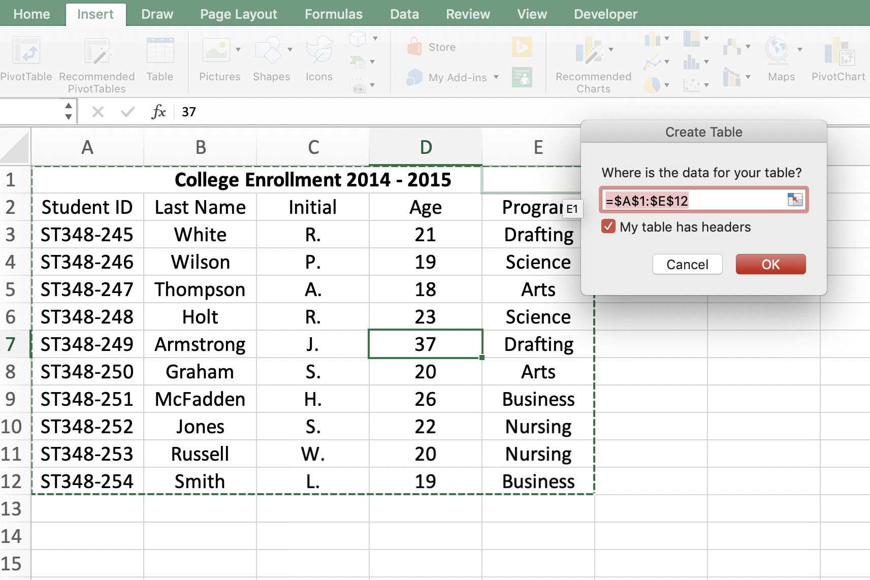 How to Sort Your Related Data in Excel With Tables