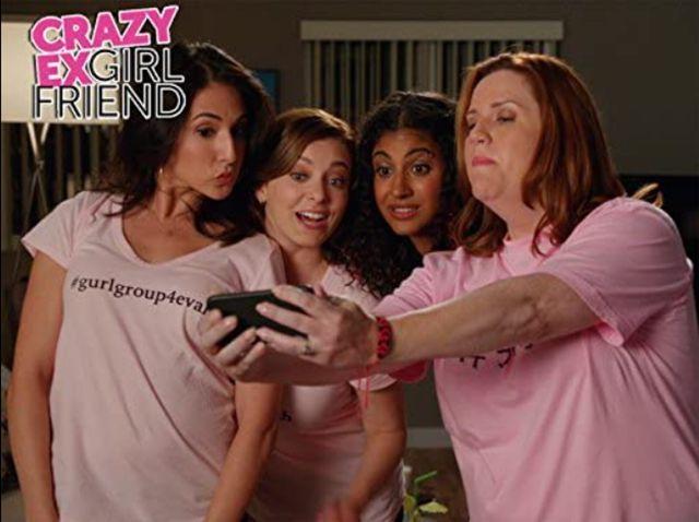 Donna Lynne Champlin, Rachel Bloom, Gabrielle Ruiz, and Vella Lovell in 'Crazy Ex-Girlfriend'