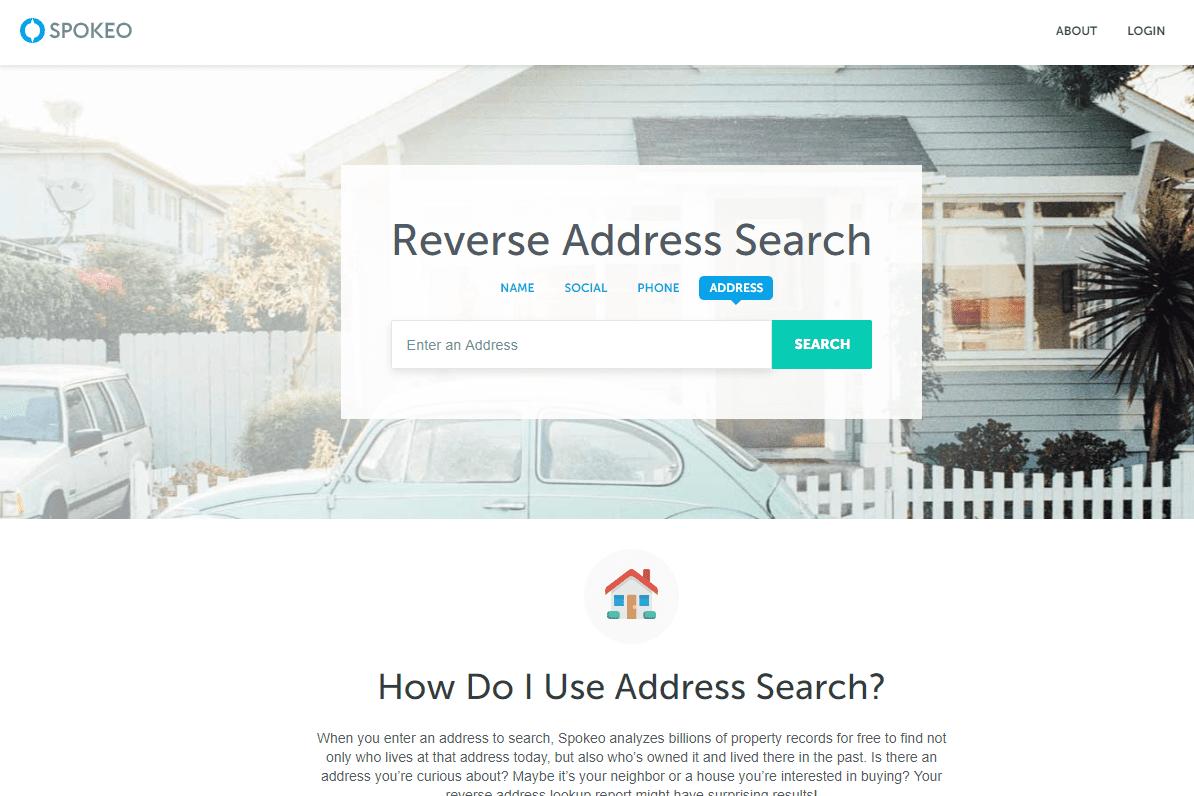 Spokeo reverse address search