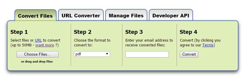 zamzar convert word to pdf