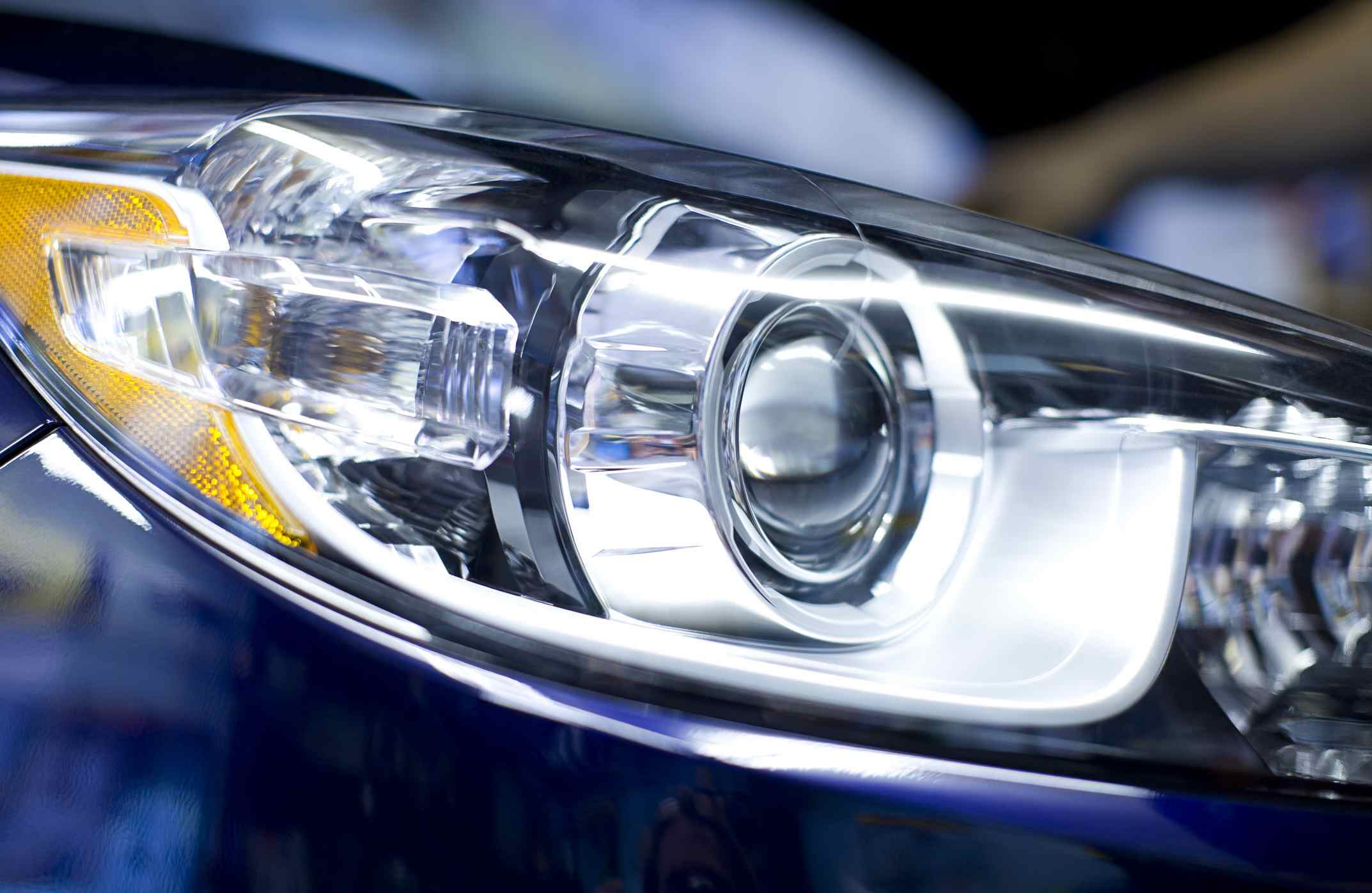 Hid Headlight Closeup