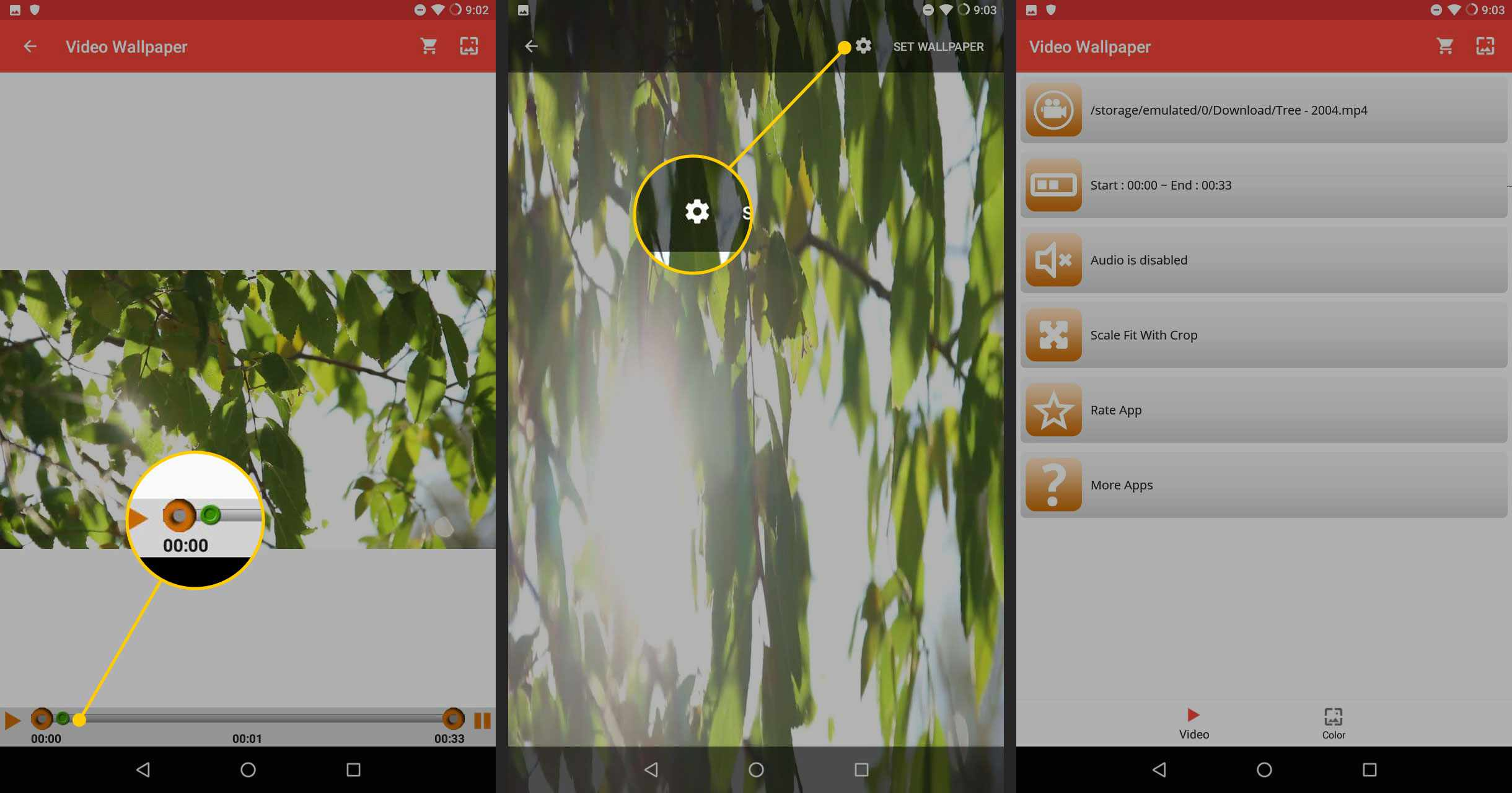 Video Your Wallpaper on a Phone