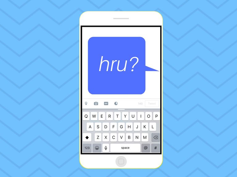 Illustration of HRU in a message bubble on an iPhone
