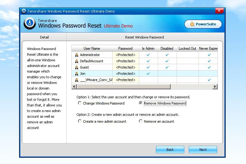 tenorshare windows password reset torrent