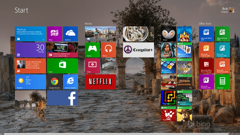 Windows 8's New Start Screen
