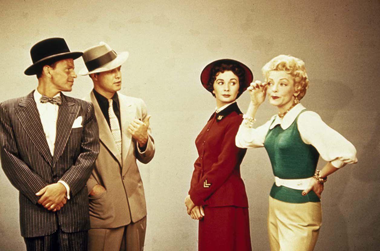 Marlon Brando, Frank Sinatra, Jean Simmons, and Vivian Blaine in 'Guys and Dolls'
