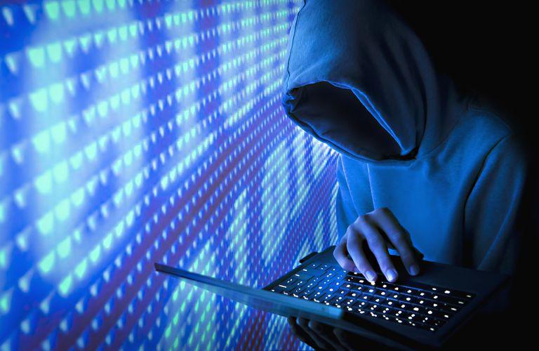 Blue Computer Hacker