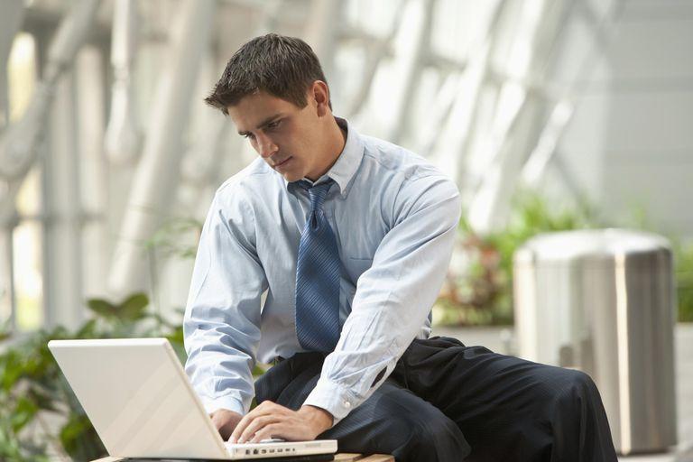 Business man on laptop