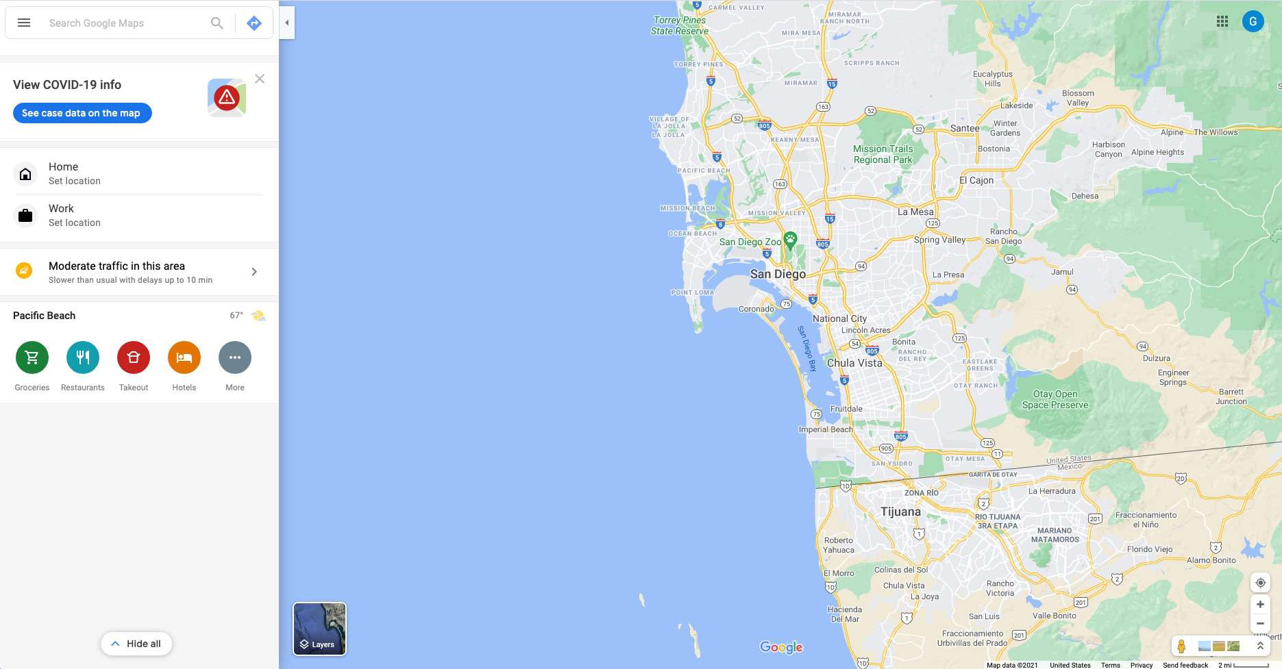 Google Maps open in a web browser