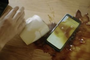 Spilling coffee on the Nokia XR20