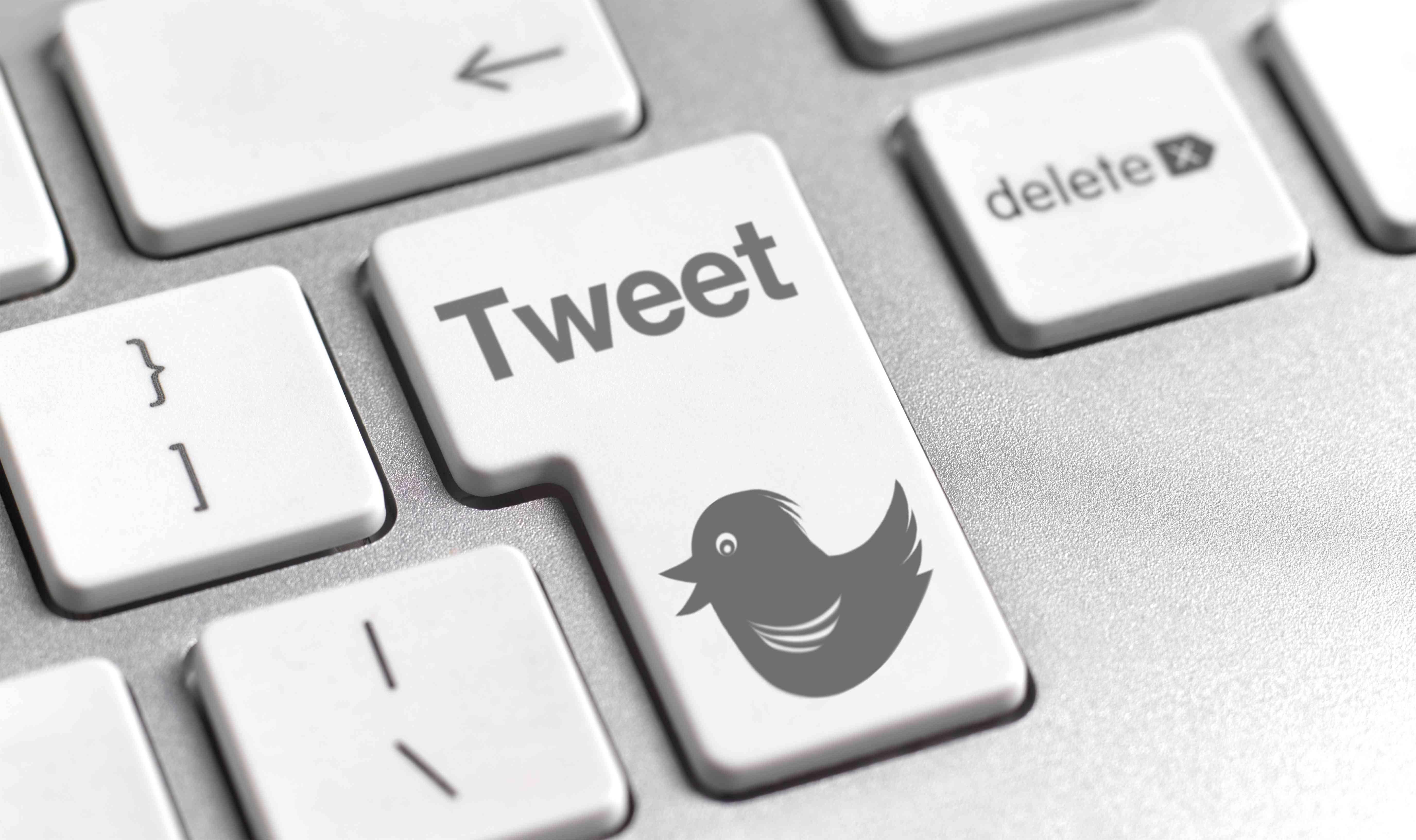 Twitter on a keyboard