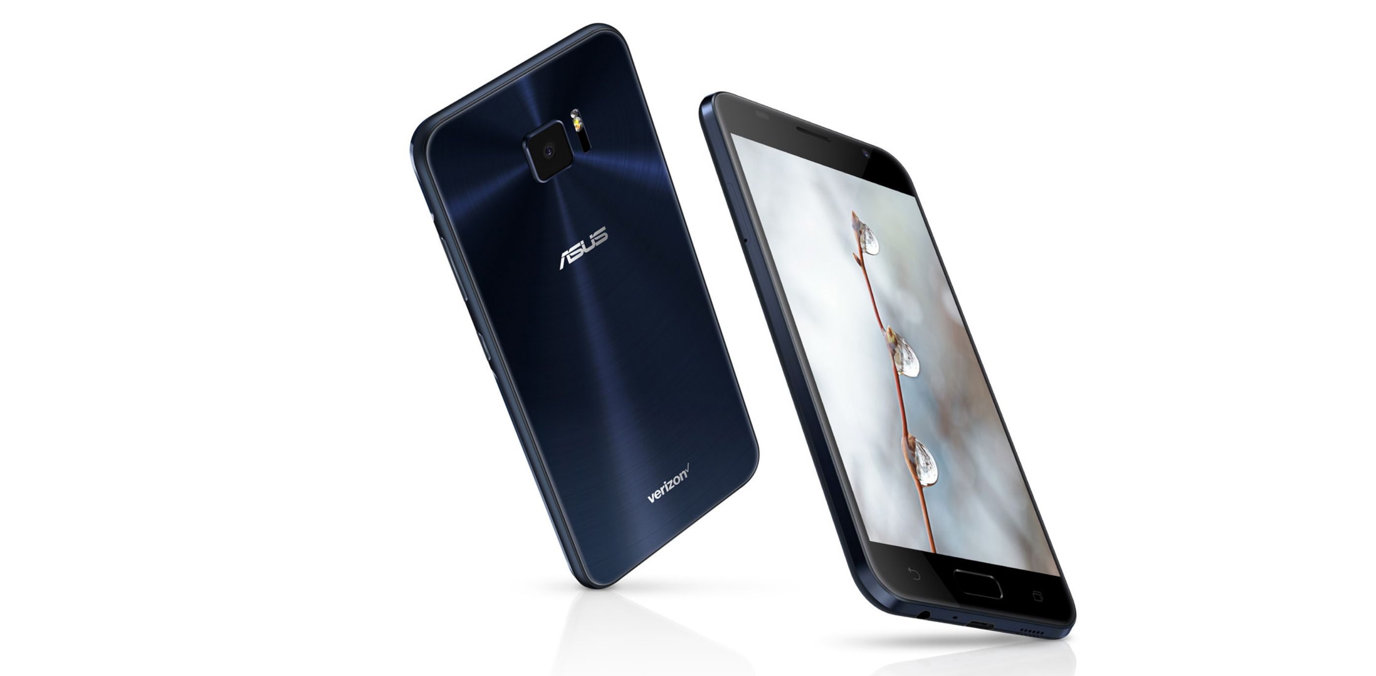 Asus ZenFone V in black front and back view