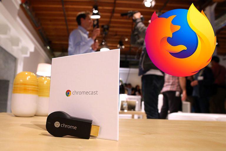 Chromecast with Firefox logo