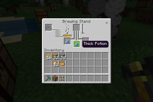 A Thick Potion in the brewing menu in Minecraft