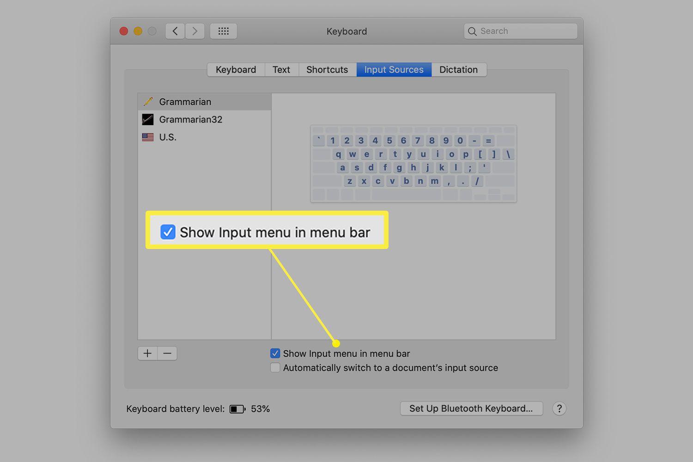 Option to show input menu in menu bar