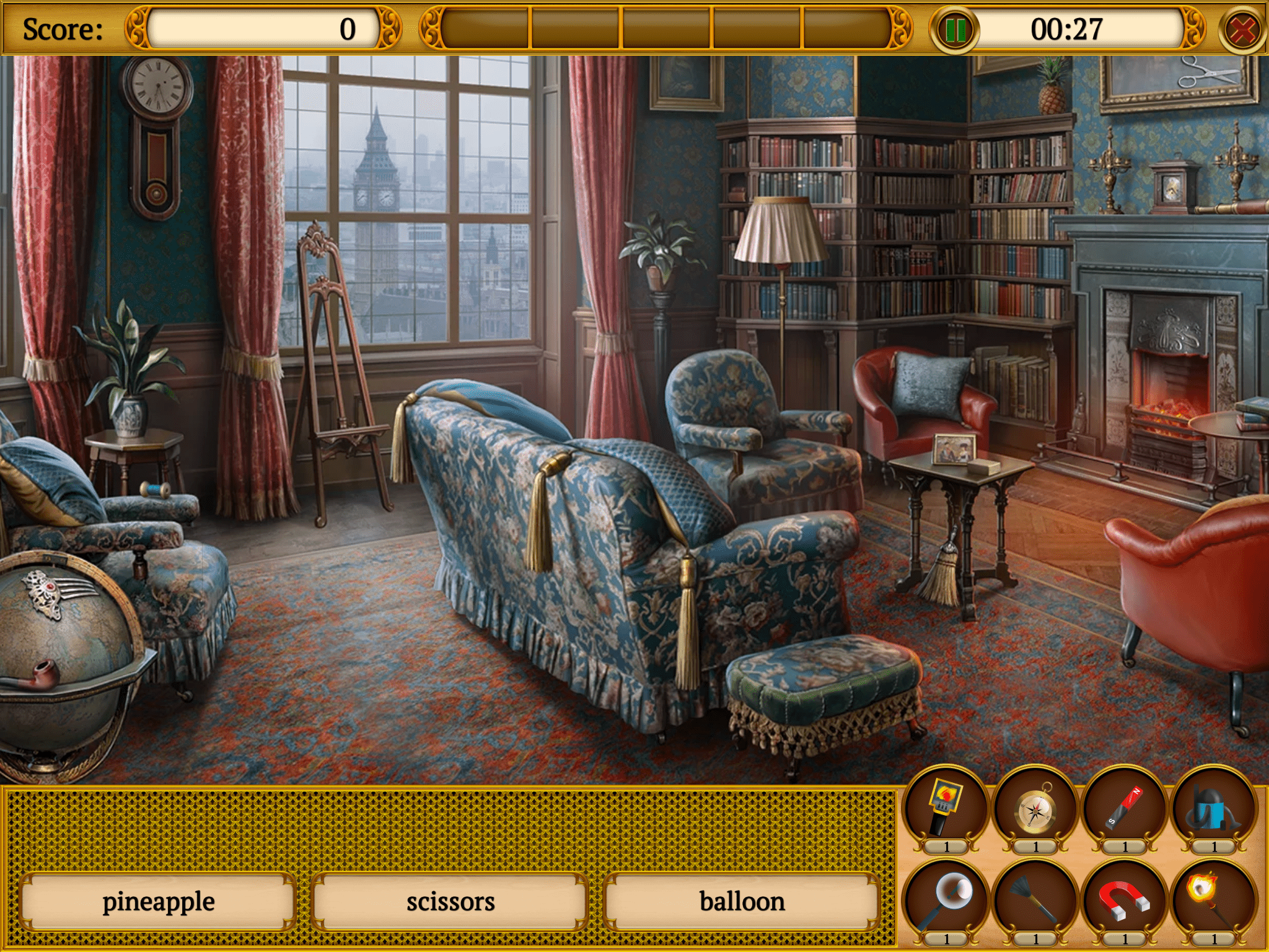 Screenshot of Hidden Objects: Mystery Society HD Free Crime Game