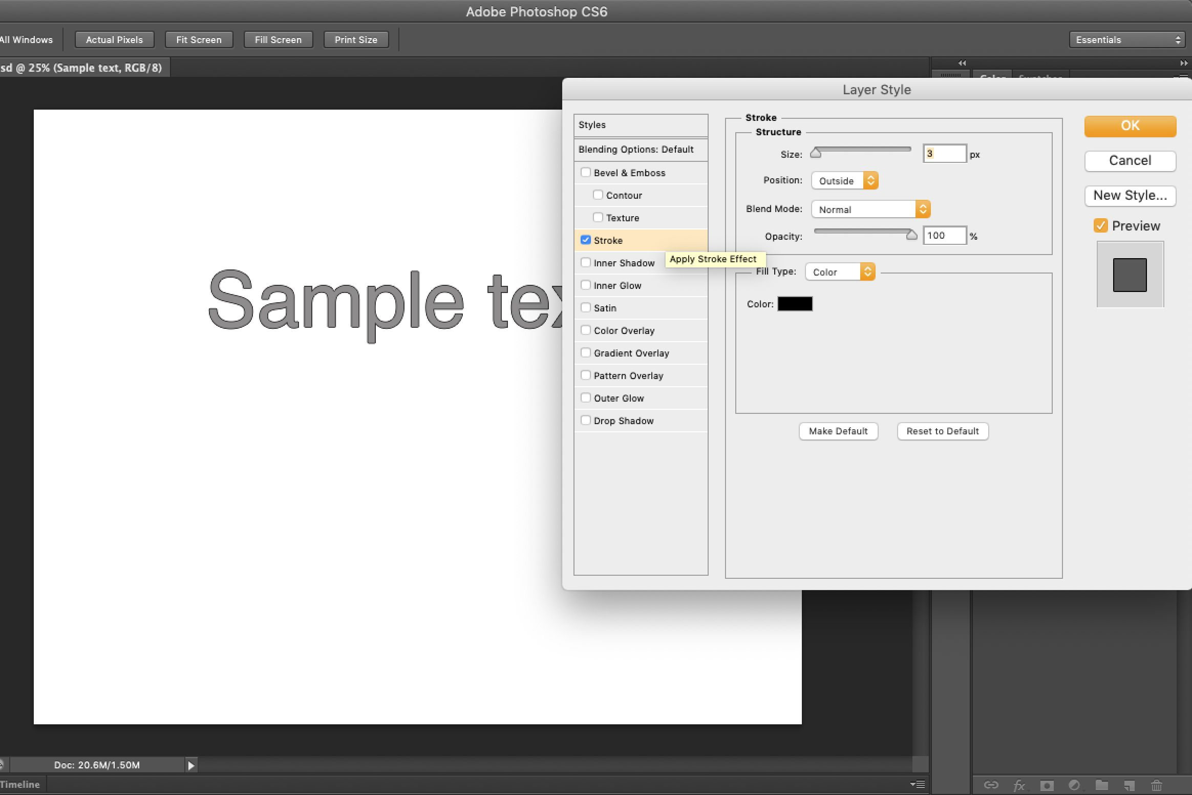 How to Add a Thick Outline to Type in Photoshop