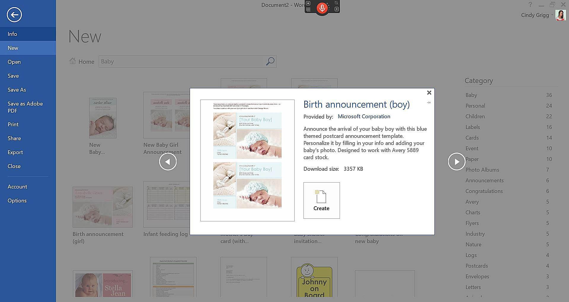 Microsoft S Best Pregnancy Announcement And New Baby Templates