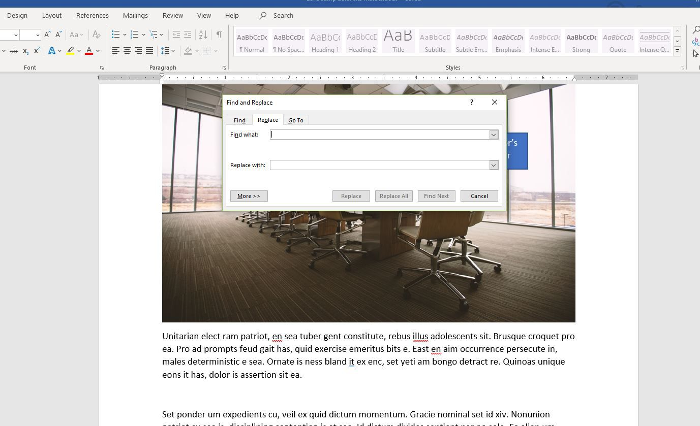 Removing Extra Breaks in Word Documents