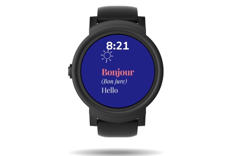 Oui Oui! watch face on a Samsung Galaxy watches