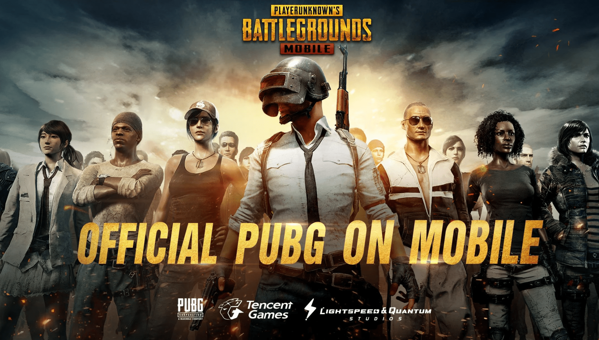 Screenshot of the official PUBG MOBILE game page