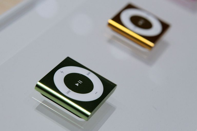 Green and Yellow iPod Shuffle