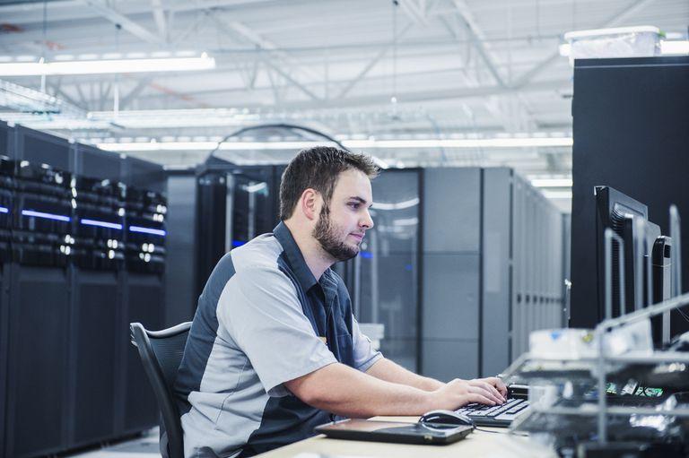 Technician in Server Room