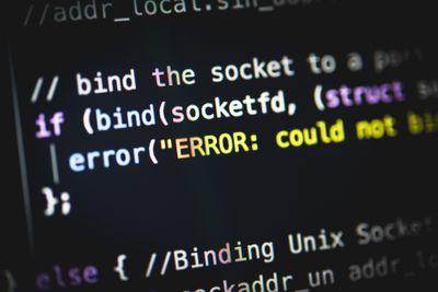 Syntax error in programming